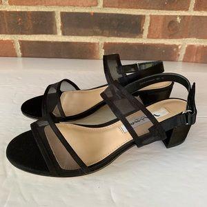 Nina New York black mesh sandals